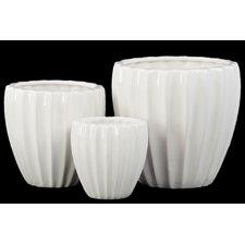 3 Piece Short Tapered Flower Vase Set