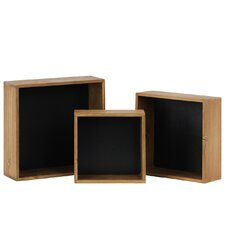 3 Piece Square Nesting/Stackable Shelf Set