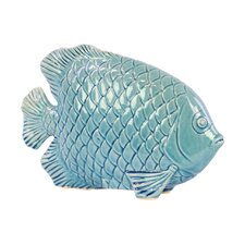 Engraved Hexagonal Scales Fish Figurine