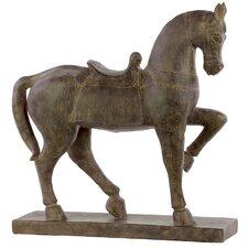 Horse with Saddle Figurine