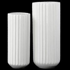 2 Piece Tall Cylindrical Flower Vase Set