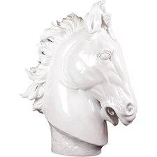 Resin Horse Bust Gloss White