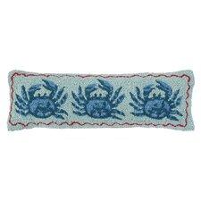 Nautical Hook Three Crabs Lumbar Pillow