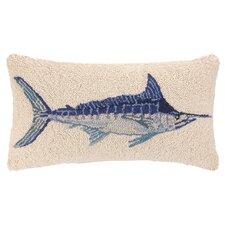 Nautical Hook Swordfish Lumbar Pillow