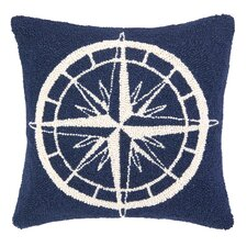 Nautical Hook Compass Throw Pillow