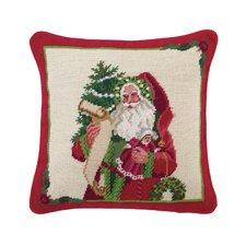 Needlepoint Mistletoe Memories Wool Throw Pillow