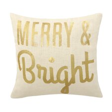 Merry & Bright Sequins Throw Pillow
