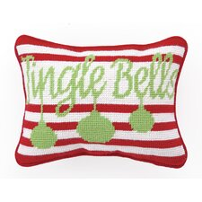 Needlepoint Jingle Bells Wool Throw Pillow (Set of 2)