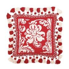 Needlepoint Damask Wool Throw Pillow