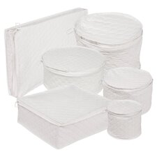 6 Piece Tabletop Cotton Dinnerware Storage Set