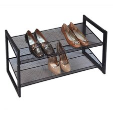Bronze Angle Metallic 2 Tier Angled Stackable Shoe Rack