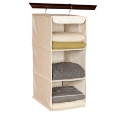 Nature of Storage Canvas Natural 3 Shelf Sweater Organizer