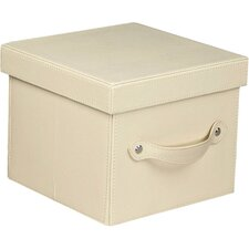 Tabletop Storage Faux Leather Dessert Plate Chest