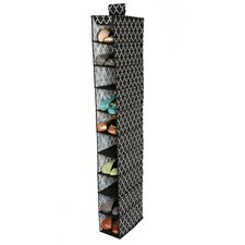 Quatrefoil Cambridge Hanging 10 Shoe Large Canvas Shelf Organizer