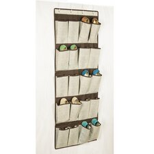 Celessence Crisp Linen Storage Scents 20 Pocket Over the Door Shoe Organizer