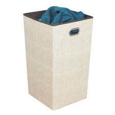Celessence Crisp Linen Storage Folding Laundry Hamper with Metal Eyelet Handle