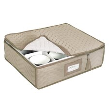 Microfiber Deluxe China Storage Cup Chest