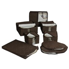 Tabletop Micro Fiber 8 Piece Dinnerware Storage Set