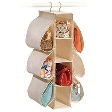 Natural Canvas Storage 10 Pocket Hanging Handbag Organizer