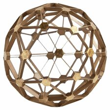 Dodecahedron Orb Decor in Gold