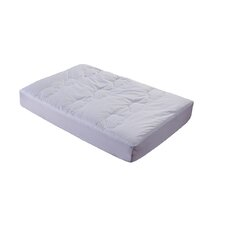 All Natural Down Alternative 100% Cotton Filled Crib Mattress Pad