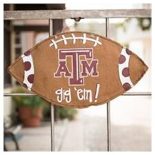 Texas A and M Football Burlee Garden Sign