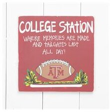 Texas A and M Tailgate Sign Painting Print