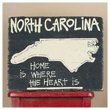 State of North Carolina Sign Textual Art