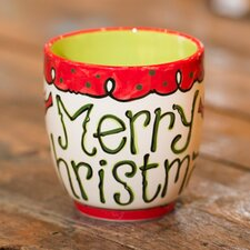 Merry Christmas Birds and Topiaries Cup