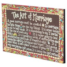 Art of Marriage Table Top Textual Art on Canvas