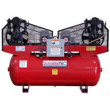 120 Gallon Duplex Professional Series 2 Stage 5HP Single Phase Horizontal Air Compressor
