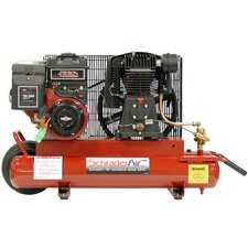 8 Gallon Compressor For Contractors Gas Powered Air Compressor with Electric Start