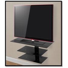 """Wall Mounted Glass Shelving System for Up to 50"""" Screens"""
