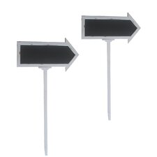 Arrow Sign Free-Standing Chalkboard, 4' x 2' (Set of 2)