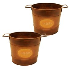 Round Metal Container (Set of 2)