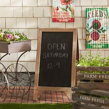 Display Sign Free-Standing Chalkboard, 3' x 2'