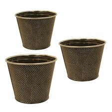 Metal Polka Dot Pot Cover (Set of 3)
