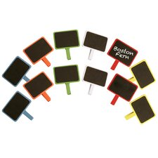 2 of Each Assorted Color Painted Wood Chalkboard (Set of 12)