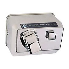 Push Button Surface Mounted 110 / 120 Volt Hand Dryer in Chrome