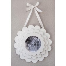 Triple Layered Flower Wood Hanging Picture Frame