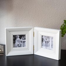 Square Wood Double Picture Frame