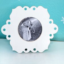 Lace Circular Picture Frame