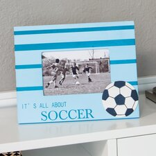 Wooden Soccer Picture Frame