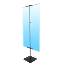 """48"""" - 90"""" Vertical Adjustable Light Weight Double-Sided Banner Stand"""