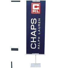 """48"""" - 90"""" Vertical Adjustable Double-Sided Banner Stand"""
