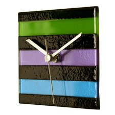 Square Glass Stripe Wall Clock