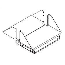 Monitor Shelf with Single Sliding Keyboard Tray