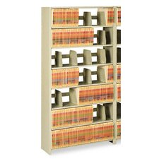 Tennsco Snap-Together 6-Shelf Closed Add-On Open Filing Unit