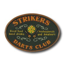 Game Room Strikers Darts Framed Vintage Advertisement