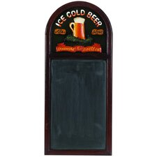 Hand-Carved 'Ice Cold Beer' Sign